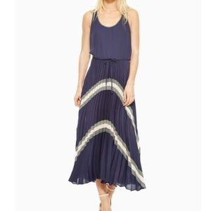 Parker Hansel Combo navy maxi dress